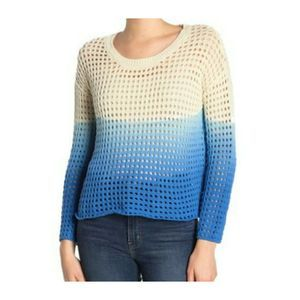 Sweaters - Good Luck Gem Blue Ombre Sweater
